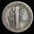 Image of 1916-P / MERCURY DIME / CIRCULATED GRADE GOOD / VERY GOOD 90% SILVER COIN
