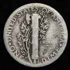 Image of 1920-S MERCURY DIME / CIRCULATED GRADE GOOD / VERY GOOD 90% SILVER COIN