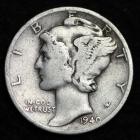 Image of 1940-D MERCURY DIME / CIRCULATED GRADE GOOD / VERY GOOD 90% SILVER COIN