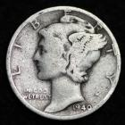 Image of 1940-P MERCURY DIME / CIRCULATED GRADE GOOD / VERY GOOD 90% SILVER COIN