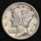 Image of 1940-S MERCURY DIME / CIRCULATED GRADE GOOD / VERY GOOD 90% SILVER COIN