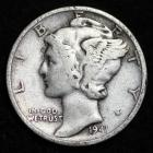 Image of 1941 MERCURY DIME / CIRCULATED GRADE GOOD / VERY GOOD 90% SILVER COIN