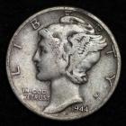 Image of 1944 MERCURY DIME / CIRCULATED GRADE GOOD / VERY GOOD 90% SILVER COIN