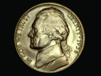 Image of 1938-D Jefferson Nickel - circulated