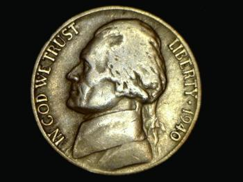 Image of 1940-D Jefferson Nickel - circulated