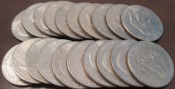 Image of ROLL OF 20 EISENHOWER DOLLARS BU