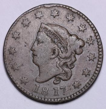 Image of 1817 13 Stars Large Cent VF