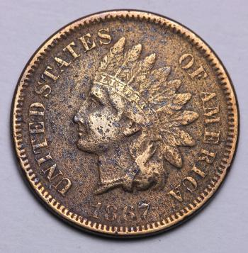 Image of 1867 Indian Cent FINE