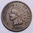 Image of 1887 Indian Cent AU