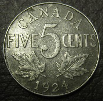 Image of 1924 CANADA NICKEL VF