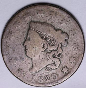Image of 1820/19 Large Cent