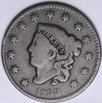 Image of 1833 Large Cent