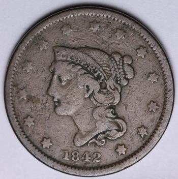 Image of 1842 Large Cent