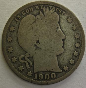 Image of 1900-S Barber Quarter GOOD