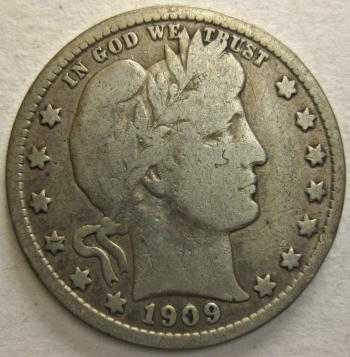 Image of 1909-S Barber Quarter FINE