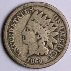 Image of 1860 Copper-Nickel Indian Cent - G