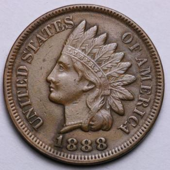 Image of 1888 Indian Cent AU