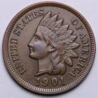 Image of 1901 Indian Cent AU