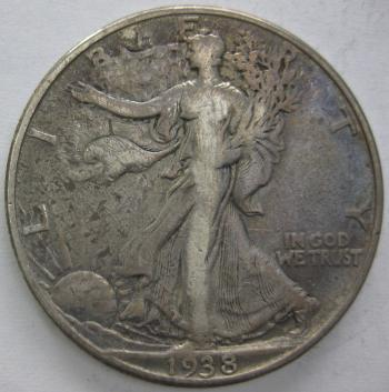 Image of 1938-D Walking Liberty Half Dollar FINE