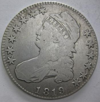 Image of 1819 Capped Bust Half Dollar VF