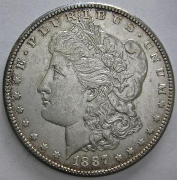 Image of 1887-S Morgan Dollar BU MS60