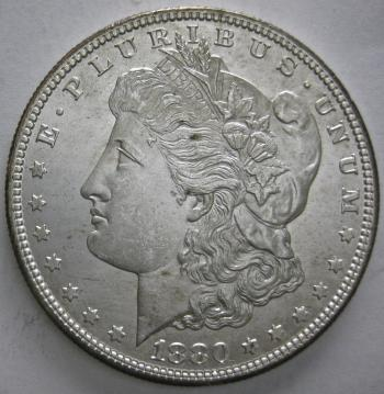 Image of 1880-S Morgan Dollar GEM BU