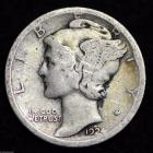 Image of 1924-P MERCURY DIME / CIRCULATED GRADE GOOD / VERY GOOD 90% SILVER COIN