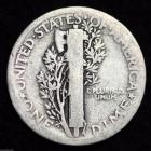 Image of 1920-P MERCURY DIME / CIRCULATED GRADE GOOD / VERY GOOD 90% SILVER COIN