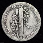 Image of 1923-P MERCURY DIME / CIRCULATED GRADE GOOD / VERY GOOD 90% SILVER COIN