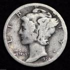 Image of 1928 - P / MERCURY DIME / CIRCULATED GRADE GOOD / VERY GOOD 90% SILVER COIN