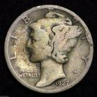 Image of 1927-S MERCURY DIME / CIRCULATED GRADE GOOD / VERY GOOD 90% SILVER COIN